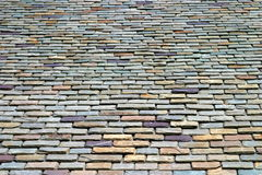 Roof Tiles. Colorful stone roof tiles from below Royalty Free Stock Photography