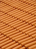 Roof tiles. Traditional roof tiles protecting house from rain and bad weather Royalty Free Stock Images