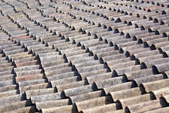 Roof tiles. Abstract roof tiles pattern background stock photos