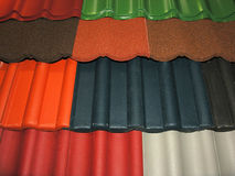 Roof Tiles. Many colors Royalty Free Stock Photos