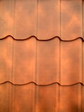Roof tiles. New orange roof tiles close up detail Royalty Free Stock Photography