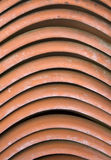 Roof tiles. Close-up of stack of old roof tiles Royalty Free Stock Photos