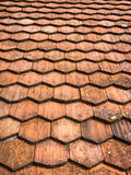 Roof Tiles Abstract Pattern. Abstract pattern made by overlapping shingle roof tiles Stock Photos