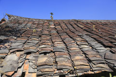 Roof tiles of ancient dwellings Royalty Free Stock Image