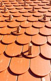 Roof tiles background Royalty Free Stock Photos
