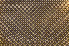Roof tiles background and pattern, Metal Roof of Metal Palace Stock Photo