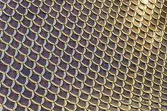Roof tiles background and pattern, Metal Roof of Metal Palace Stock Photos