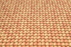 Roof tiles background texture in regular rows Stock Photography