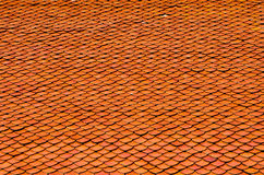 Roof Tiles of Buddhism Church. A roof tiles of buddhism church in Thailand Temple Royalty Free Stock Photos
