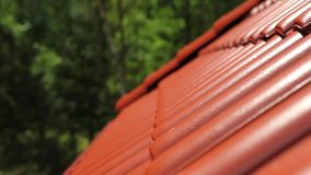 Roof Tiles stock video footage