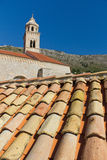 Roof Tiles and Church in Dubrovnik, Croatia Stock Images