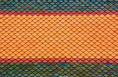 Roof tiles of classic Buddhist temple Stock Photo
