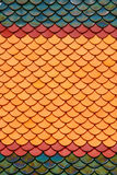 Roof tiles of classic Buddhist temple Stock Photography