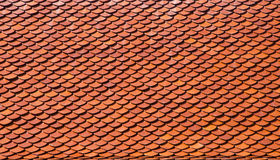 Roof tiles of classic Buddhist temple Stock Photos