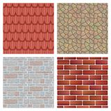 Roof tiles of classic texture and detail house seamless pattern material vector illustration stock illustration