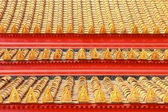 Roof tiles classic in thailand temple Stock Photos