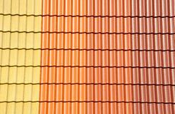 Roof tiles colors Royalty Free Stock Image