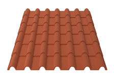 Roof tiles. 3d illustration isolated on white background Stock Photography