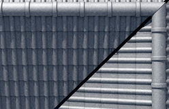 Roof Tiles Design Top Stock Photography