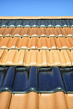 Roof tiles. Different roof tiles - close up Stock Photography
