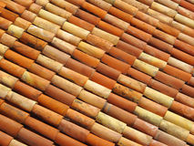 Roof tiles in different colors Royalty Free Stock Images