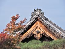 Roof tiles of Eikando temple in Kyoto, Japan. Royalty Free Stock Photos