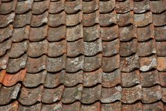 Roof Tiles. Form a background in the village of Flam, Norway Royalty Free Stock Photos