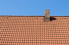 The roof tiles of the house. Royalty Free Stock Images