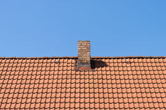 The roof tiles of the house. Royalty Free Stock Photo