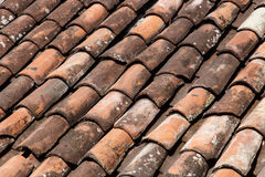 Roof tiles from a house as a background Royalty Free Stock Images