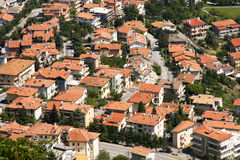 Roof tiles of house in San Marino. Stock Images