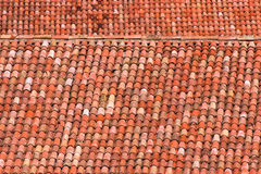 Roof tiles of a italian house in Bologna Stock Images