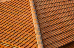 Roof tiles made of natural material Royalty Free Stock Photography