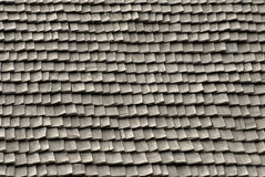 Roof tiles made of wood. Traditional romania wooden roof tiles texture Royalty Free Stock Photography