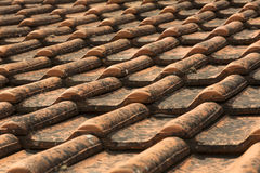 Roof tiles. The mediterranean style roof tiles Royalty Free Stock Photo
