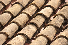 Roof tiles at Mijas Stock Photo