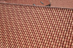 Roof tiles. New red ceramic roof tiles Royalty Free Stock Image