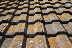 Roof tiles. Old roof tiles, background, house Royalty Free Stock Image