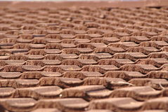 Roof tiles of an old bulding Royalty Free Stock Photo