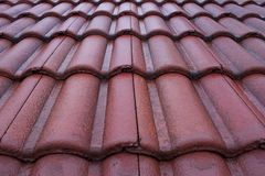 Roof Tiles. Old Roof tiles after rain Stock Image