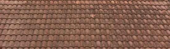 Roof tiles old. Very  old Roof tiles in Thailand Royalty Free Stock Photos
