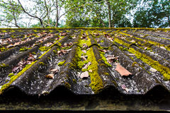 A roof  tiles old Royalty Free Stock Photo