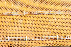 Roof tiles in orange Royalty Free Stock Photos