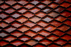 Roof tiles. Orange roof tiles for background or texture Royalty Free Stock Images