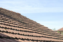 Roof tiles over blu sky Royalty Free Stock Photography