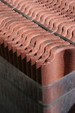 Roof tiles package. Roof brick stones packed for transportation Stock Photography