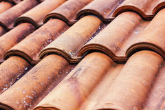 Roof Tiles Pattern Stock Photo