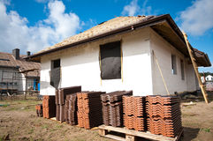 Roof tiles piled Royalty Free Stock Images