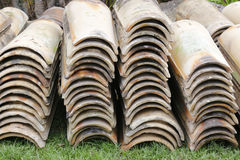 Roof tiles piled up Royalty Free Stock Photography