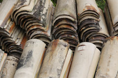 Roof tiles piled up Stock Image